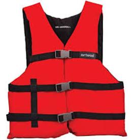 SPORTSTUFF UNIVERSAL LIFE JACKET RED ONE SIZE