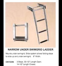 SLIDING STOWAWAY LADDER 3 STEP (UNDER SWIMGRID) STAINLESS