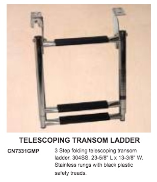 VICTORY TELESCOPIC LADDER 3 STEP STAINLESS