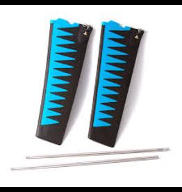 HOBIE® HOBIE GLIDE TECHNOLOGY SQUARE TIP TURBO FIN KIT V2 (BLUE)