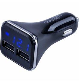 SEADOG SEADOG DOUBLE USB POWER PLUG WITH VOLATAGE/AMP METER