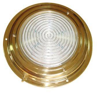 "AAA BRASS XENON DOME LIGHT 5"" WHITE *CLEARANCE*"