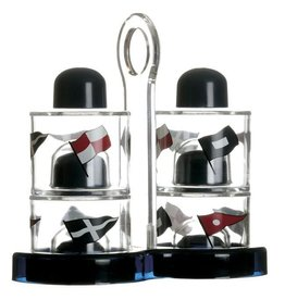 MARINE BUSINESS MARINE BUSINESS REGATTA CRUET & SALT-PEPPER SET (ACRYLLIC) 5PC *CLEARANCE*