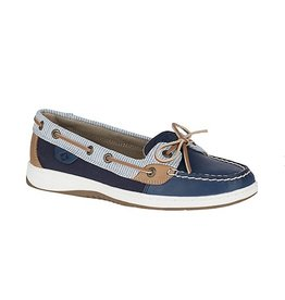 SPERRY SPERRY ANGELFISH STRIPE NAVY BOAT SHOE