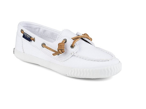 SPERRY SPERRY SAYEL AWAY WASHED WHITE SNEAKER (WOMEN'S)