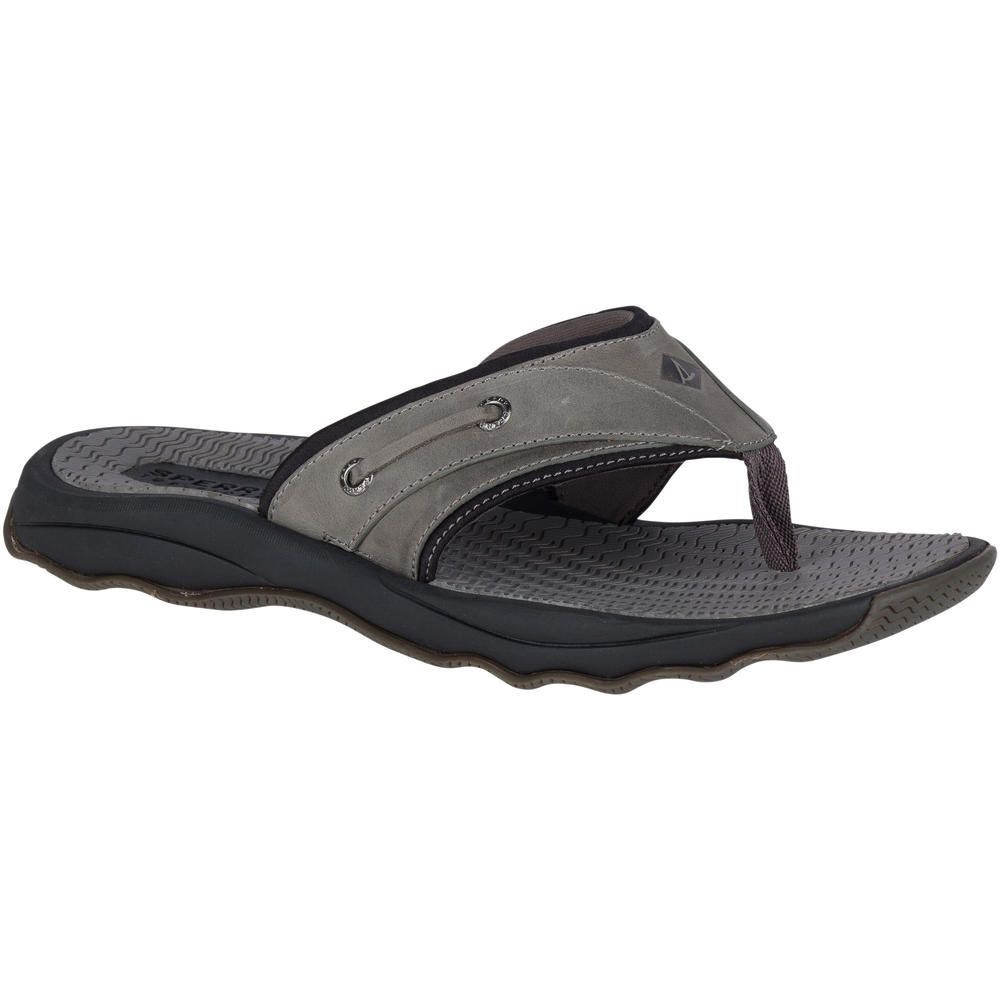 SPERRY SPERRY OUTER BANKS GREY/BLACK THONG SANDAL (MEN'S)