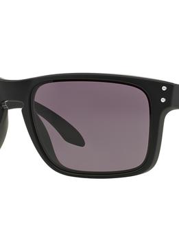 Eyewear Oakley Holdbrook Matte Black Frame, Lens Warm Grey