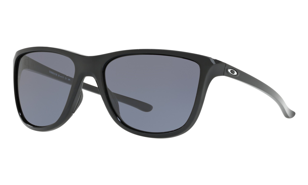 Eyewear Oakley Reverie Polished Black Frame, Lens Grey