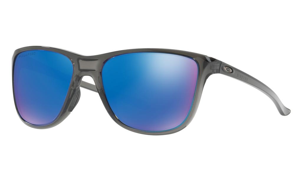 Eyewear Oakley Reverie Frame color: Gray Smoke, Lens color: Sapphire Iridium Polarized, Fit: Standard