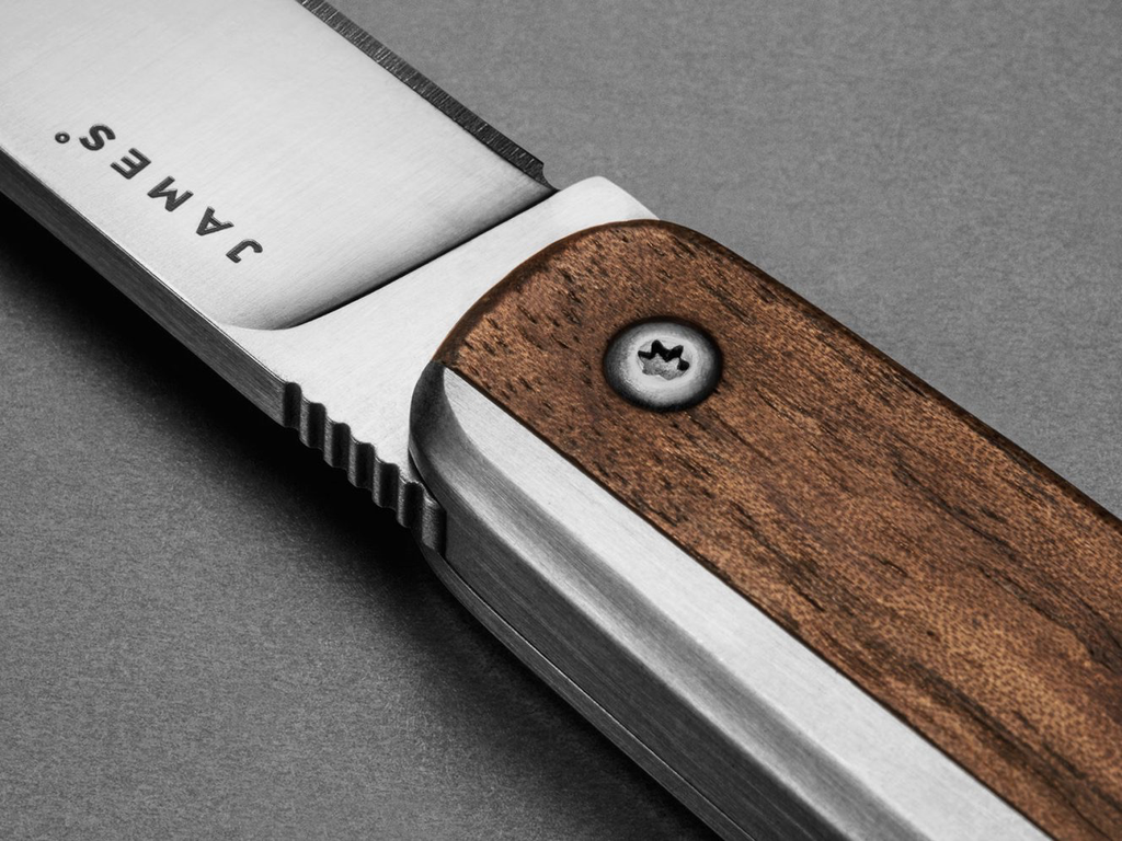 James: The County: Walnut / Stainless / Wood / Straight