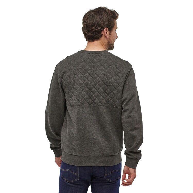 Men's Organic Cotton Quilt Crewneck Sweatshirt