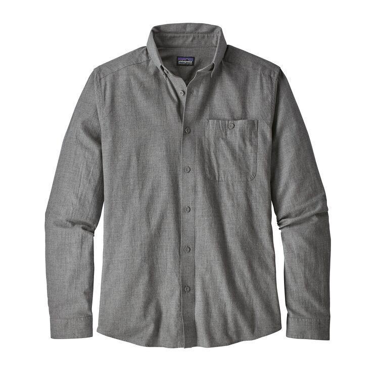 Men's Long-Sleeved Vjosa River Pima Cotton Shirt