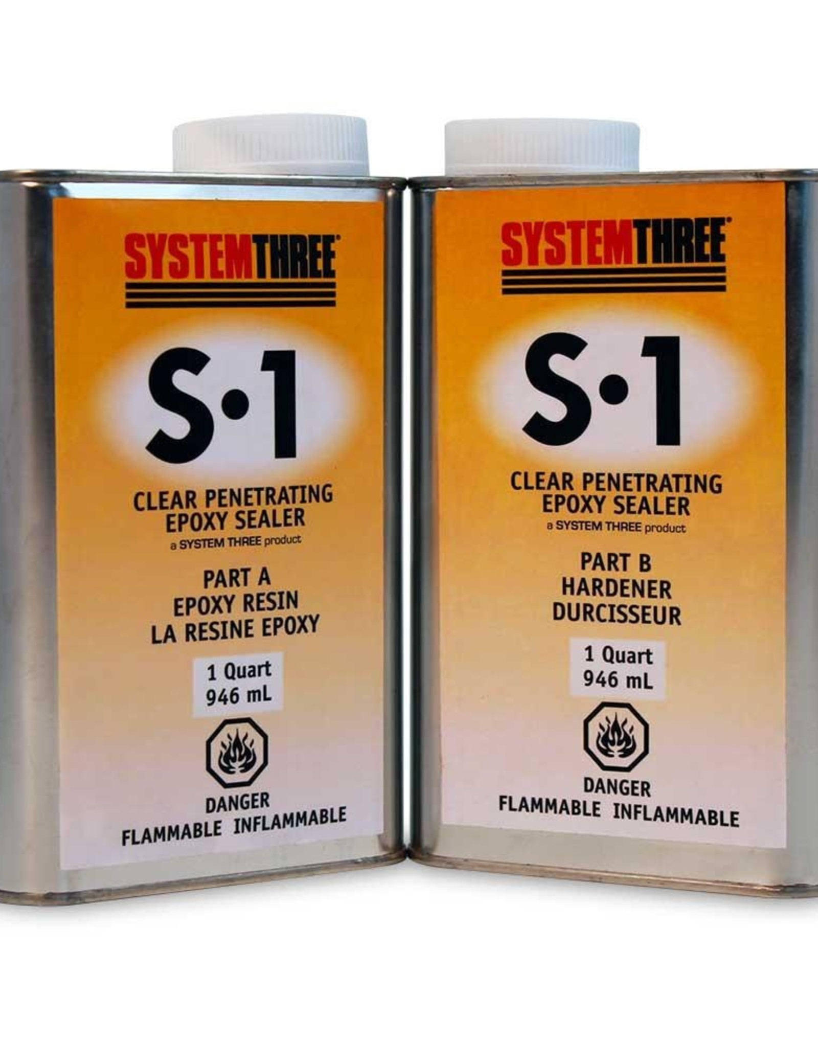 system three 20   F1400K20 Systhree S-1 Epoxy Sealer 1.89L (2QT)