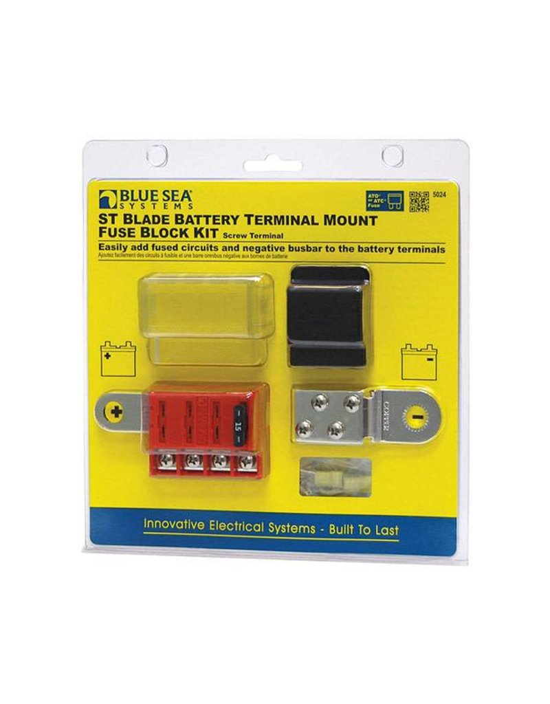 Blue Sea FUSE BLOCK ATO 4 CIR W/GROUND 5024 Adding Ground Wire To Fuse Box on