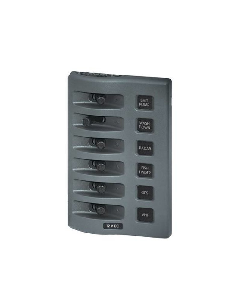Blue Sea PANEL WD GR12V 6POS SWITCH ONLY 4307 	4307