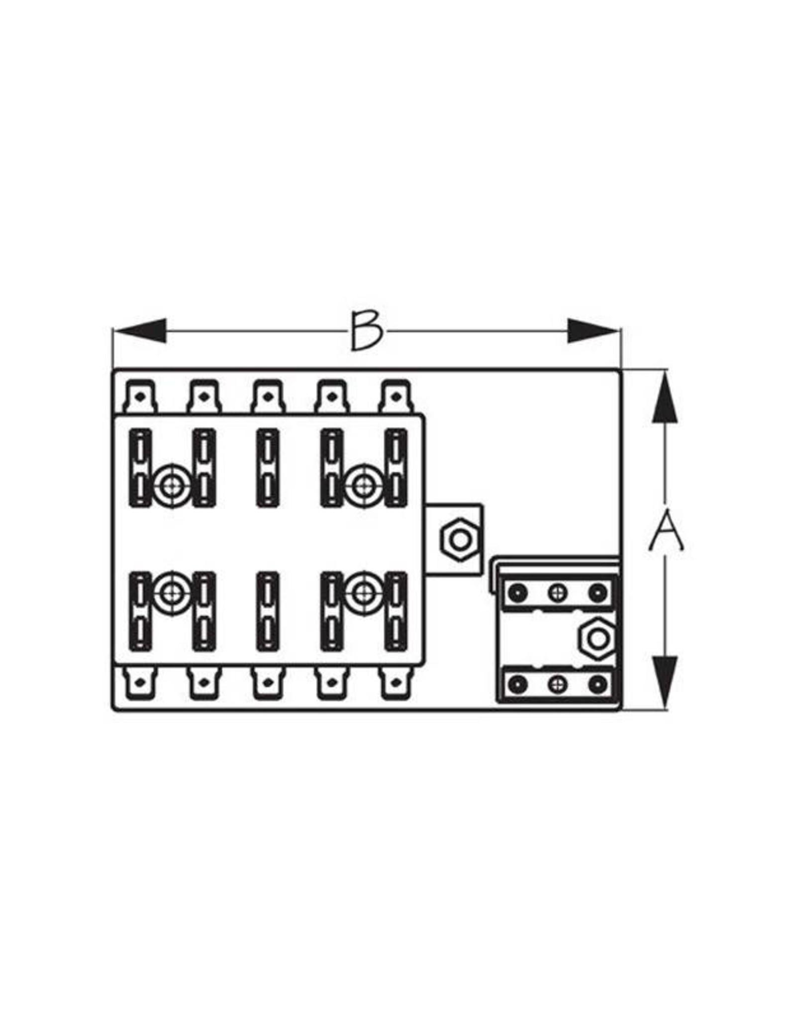 SEADOGLINE 19   445191-1 ATC Style Fuse Block w/Ground