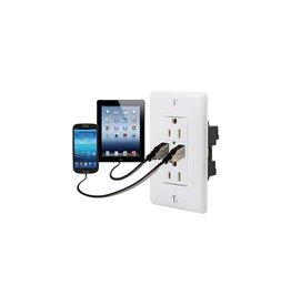 RECEPTACLE USB WHITE 15A/125V USB15X2W