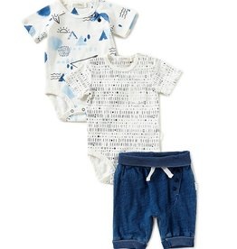 baby store in Canada - MILES BABY Miles Baby 3PC set Diaper Shirts & Shorts Knit