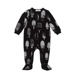 baby store in Canada - MILES BABY Miles Baby Baby Sleeper Knit Ice Cream Black