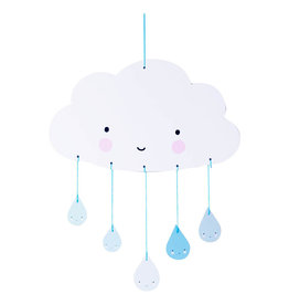 baby store in Canada - A LITTLE LOVELY COMPANY MOBILE BLUE CLOUDS