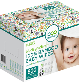 baby store in Canada - BOO BAMBOO Boo Bamboo Baby Biodegradable 100% Bamboo Wipes box 800ct