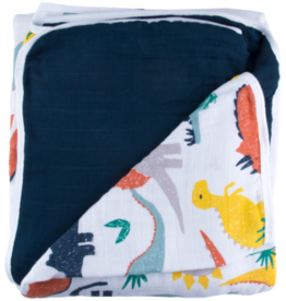 baby store in Canada - CAPTAIN SILLY PANTS Captain Silly Pants Dinosaur Triple-layer Bamboo Blanket