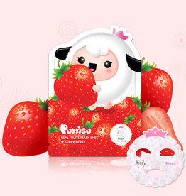 baby store in Canada - PUTTISU PUTTISU REAL FRUIT MASK SHEET - STRAWBERRY
