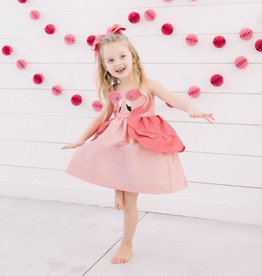 baby store in Canada - LITTLE GOODALL LITTLE GOODALL PINK FLAMINGO DRESS