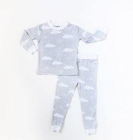 baby store in Canada - LITTLE SLEEPIES LITTLE SLEEPIES BAMBOO PAJAMA SET CLOUDS