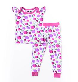 baby store in Canada - LITTLE SLEEPIES LITTLE SLEEPIES BAMBOO PAJAMA SET PLUM