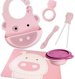 baby store in Canada - MARCUS & MARCUS Marcus & Marcus 1 Bowl+1 Placemat+1 Spoon+ 1 Chopsticks+1 Teether+1 Baby Bib
