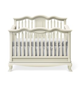 baby store in Canada - ROMINA ROMINA CLEOPATRA CONVERTIBLE CRIB WASHED WHITE / OPEN BACK