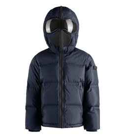 baby store in Canada - AI RIDERS AI RIDERS BASIC DOWN JACKET + HOOD THERMOWEALDING QUILT DEEP BLUE