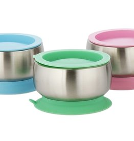 baby store in Canada - AVANCHY Avanchy Stay Put Baby Stainless Suction Bowl