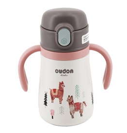 baby store in Canada - OUDON OUDON KIDS THERMAL STRAW SIPPY BOTTLE PINK