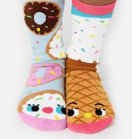 baby store in Canada - PALS SOCKS PALS NEW DONUT & ICE CREAM PALS ARTIST KIDS MISMATCHED FOOD SOCKS