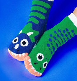 baby store in Canada - PALS SOCKS PALS SOCKS TREX AND TRICERATOPS PALS ARTIST KIDS MISMATCHED