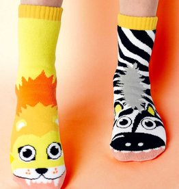 baby store in Canada - PALS SOCKS PALS LION & ZEBRA MISMATCHED SOCKS