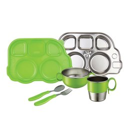 baby store in Canada - INNOBABY Innobaby DinDin Smart Mealtime Set - Platter with lid, Bowl, Utensil, Cup