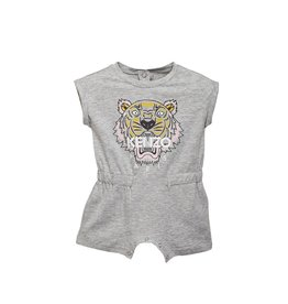 baby store in Canada - KENZO Kenzo Baby Girls Grey Tiger28 Jungle Playsuit