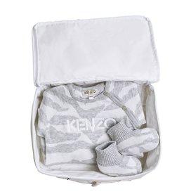 baby store in Canada - KENZO KENZO Baby Grey Cleo Playsuit Gift Set