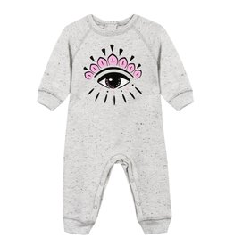 baby store in Canada - KENZO Kenzo Baby Girls Speckled Grey Claudia O Playsuit