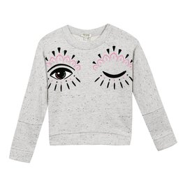 baby store in Canada - KENZO Kenzo Girls Speckies Grey Ceclie O Sweatshirt
