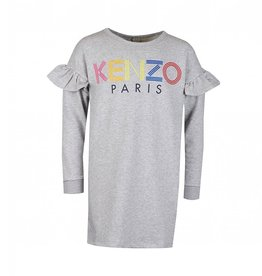 baby store in Canada - KENZO KENZO MULTI COLOURED LOGO FRILLED DRESS