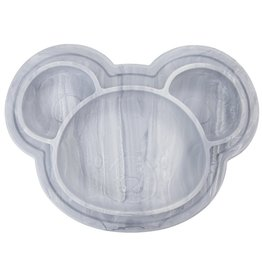 baby store in Canada - KUSHIES KUSHIES SILIPLATE SILICONE PLATE MARBLE GREY