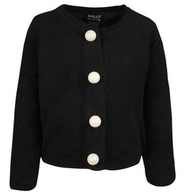 baby store in Canada - DOLLY DOLLY PEARLED UP CARDIGAN Cashmere Black