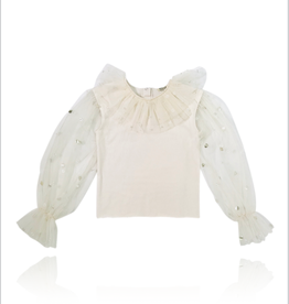 baby store in Canada - DOLLY DOLLY JEWELER'S CRYSTALS Tulle Sleeves Top