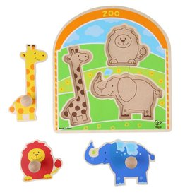 baby store in Canada - HAPE Hape At the Zoo Knob Puzzle