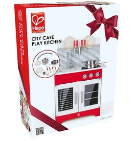 baby store in Canada - HAPE HAPE CITY CAFE KITCHEN PLAY SET WITH ACCESSORIES