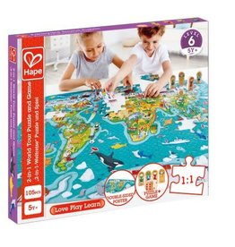 baby store in Canada - HAPE HAPE 2-IN-1 WORLD TOUR PUZZLE AND GAME